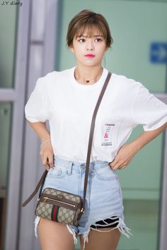Twice-Jeongyeon 180612 Gimpo Airport from Japan