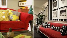 Red Couch Living Room Inspiration