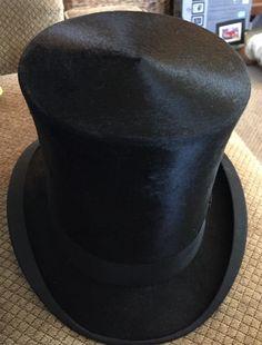45f8d782956 Antique Silk Top Hat Collins Fairbanks Boston Excellent