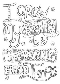 Here you find the best free Growth Mindset Coloring Pages Free collection. You can use these free Growth Mindset Coloring Pages Free for your websites, documents or presentations. Growth Mindset For Kids, Growth Mindset Classroom, Growth Mindset Activities, Growth Mindset Quotes, Growth Mindset Lessons, Quote Coloring Pages, Coloring Pages For Kids, Coloring Books, Adult Coloring