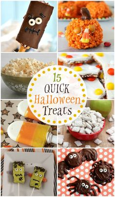 15 QUICK Last Minute  Halloween Treats - A roundup of awesome Halloween Treats that are quick AND easy to make!!