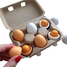 Wooden Kitchen Food Eggs Preschool Toys for Children