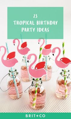 Bookmark this for fun tropical birthday party ideas for your celebration.