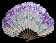French BENJAMIN LACHELIN Fan, ca 1910 http://www.pinterest.com/celiasalashered/abanicos/