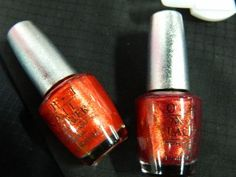 On the right is DS Indulgence. On the left is DS Luxurious. They are spit fires!  OPI at Cosmoprof 2012: The name is Bond. James Bond.