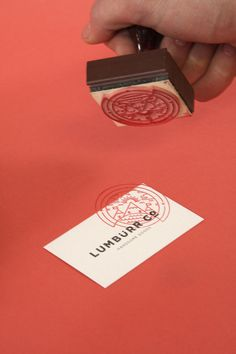business card stamp