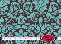 Designer Fabric by the yard Rosa Classico DAMASK by FabricBrat, $7.49