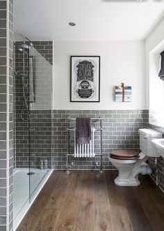 Have always liked the tiles, floor colour scheme on this bathroom. Would want more modern toilet etc