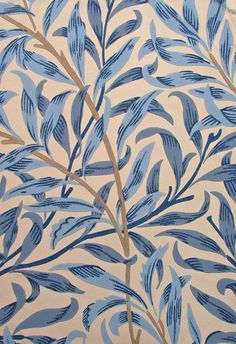William Morris Willow Boughs Textiles, Textile Patterns, Print Patterns, William Morris, Washi Tape Wallpaper, Blue Willow China, Elements Of Nature, Wall Paint Colors, Patterned Carpet