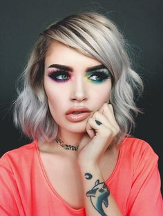 This beautifully works rainbows in to an everyday look.