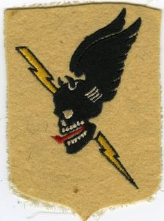WW2 802nd Tank Destroyer Winged Skull Pocket Insignia