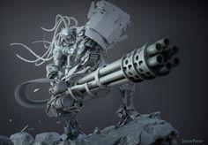 Heavy Mech, Qwenn Parker on ArtStation at https://www.artstation.com/artwork/heavy-mech-9774390e-539b-4e41-9103-38dbff8d6cc3