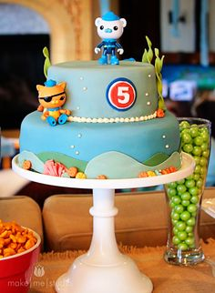 make|me|studio  An attempt at a character cake with a minimal amount of effort. We love Octonauts.