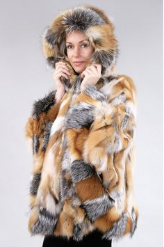 fur capes for women > canadian fur fox > ponchos > fur with hood Fur Cape, Capes For Women, Red Fox, Fox Fur, Picture Show, Hoods, Coat, Furs, Jackets