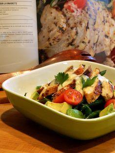 Salade de poulet grillé miel et moutarde. (recette testée = bon)