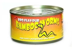 Bamboo Worms 30 Canned Foods You Never Knew Existed Food Network Humor, Food Humor, Food Network Recipes, Gross Food, Weird Food, Milk Gravy, Bbq Roast, Pizza Flavors, Jello Recipes
