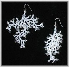 These lacy earrings look like coral or frost. The branched fringe or coraling beading technique is easy to do and yields stunning results. Once...