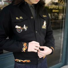 """65 Likes, 1 Comments - Classic Works (@classic_works) on Instagram: """"The Real McCoy's - U.S. Navy Souvenir Jacket #therealmccoys"""""""