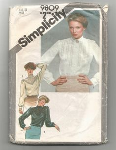 Check out this item in my Etsy shop https://www.etsy.com/listing/495642868/9809-simplicity-sewing-pattern-blouse-w