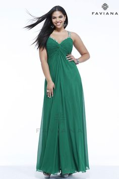 """Faviana 9333 """"Beautiful #faviana #gown perfect for #prom or #nightout. Comes in multiple colors. #dress #cocktail #beautiful #evening #spring #ballgown #2014"""""""