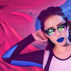 MichellePhan.com – The official site of Michelle Phan is the go-to resource for everything beauty, makeup and style from one of YouTube's top Beauty Gurus. Michelle Phan, How Beautiful, Mirrored Sunglasses, To Go, Hair Styles, Face, Top Beauty, Beauty Makeup, Youtube