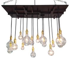 Mission Style Lighting - Mid-Century Modern Design, Brass eclectic-chandeliers
