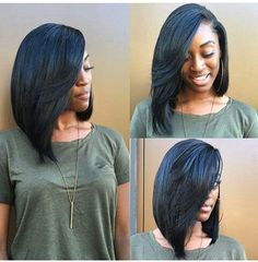 Slayed sew-in bob