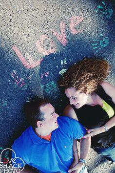 sidewalk me and my husband with our awesome photographer Jackie Bayne