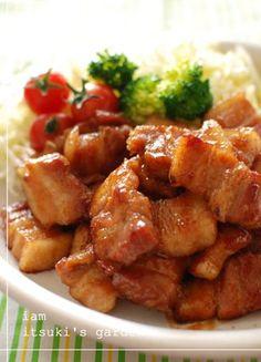 豚バラの漬け焼き☆甘辛コチュだれ☆
