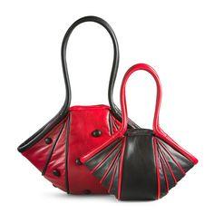 by-Lin Bags & Accessoires Unique Handbags, Unique Bags, Beautiful Handbags, Purses And Handbags, Leather Handbags, Leather Wallet, Leather Bag Tutorial, Leather Bag Pattern, Coin Bag