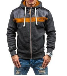 93b327e43a8 Best Selling Men s Sports And Leisure Jacquard Fleece Cardigan Hooded  Sweater