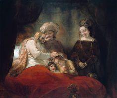 Rembrandt van Rijn, Jacob Blessing the Sons of Joseph, 1656