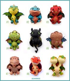Dragon Charms Collection COMPLETE - Polymer CLAY by *buzhandmade on deviantART