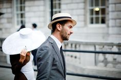 those hats! street style at london fashion week