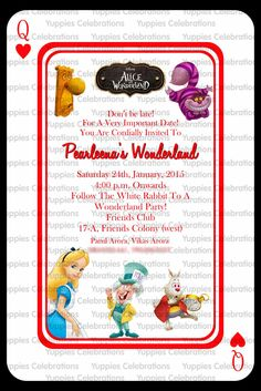 Alice in wonderland invite