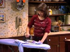 Malory ironing Family Ties