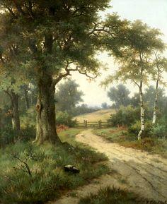 """Pieter Hendrik Koekkoek (1843-1927), """"The Woodland Track"""""""
