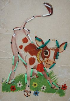 sewing cards © Copyright 2012 Audrey Kletscher Helbling oh la vache!!