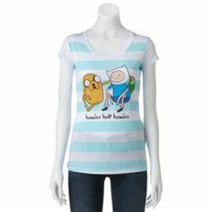 Mighty Fine ''Homies Help Homies'' Adventure Time Tee - Juniors