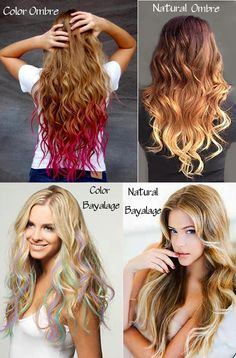Ombre or Bayalage? See the difference and get the look at:  www.remyclips.com