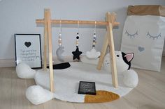 Baby gym with Play Gym Toys / Play Gym / Baby shower / Eco