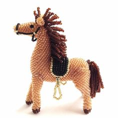 Beaded horse by GiftsByJull on Etsy, $60.00