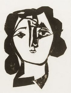 """Pablo Picasso - """"Head of a Woman"""". 1946"""
