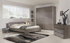 Modern Bedroom Sets with Modern Furniture Design with Dark Brown Bed Sets with Motifs Design with Cozy Interior Design Ideas Contemporary Bedroom Furniture Sets, Grey Bedroom Furniture Sets, Master Bedroom Interior, Gray Bedroom, Bedroom Ideas, Bedroom Colors, Bedroom Inspiration, Design Bedroom, Kids Bedroom
