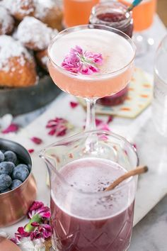 Gin + Jam Cocktail and a Charming Brunch Bar