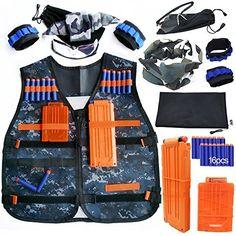 8 of 12 Adjustable Tactical Vest Jacket for 12 Darts Gun Accessories Nerf  N-Strike USA