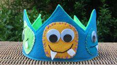 Filz Monster Geburtstag Krone von HedsThreads auf Etsy https://www.etsy.com/de/listing/189580033/filz-monster-geburtstag-krone
