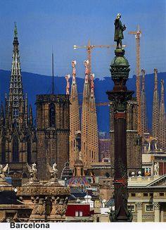 Monument a Colom, Catedral i Sagrada Familia, Barcelona,Spain (For Trade) | Flickr