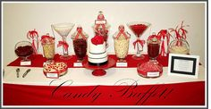 Buffet red candy buffet baby shower red black white by creations buffet red Casino Theme Parties, Casino Party, Red Candy Buffet, Candy Bar Party, Entertainment Center Kitchen, Healthy Cat Treats, Healthy Eating For Kids, Dinners For Kids, Kids Nutrition