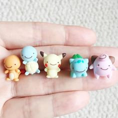 Made these little transformed ditto Pokemon in light of the new plushies released in Japan. Love dittochu the best
